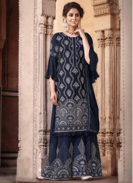Chinon Palazzo Style Pakistani Salwar Suit
