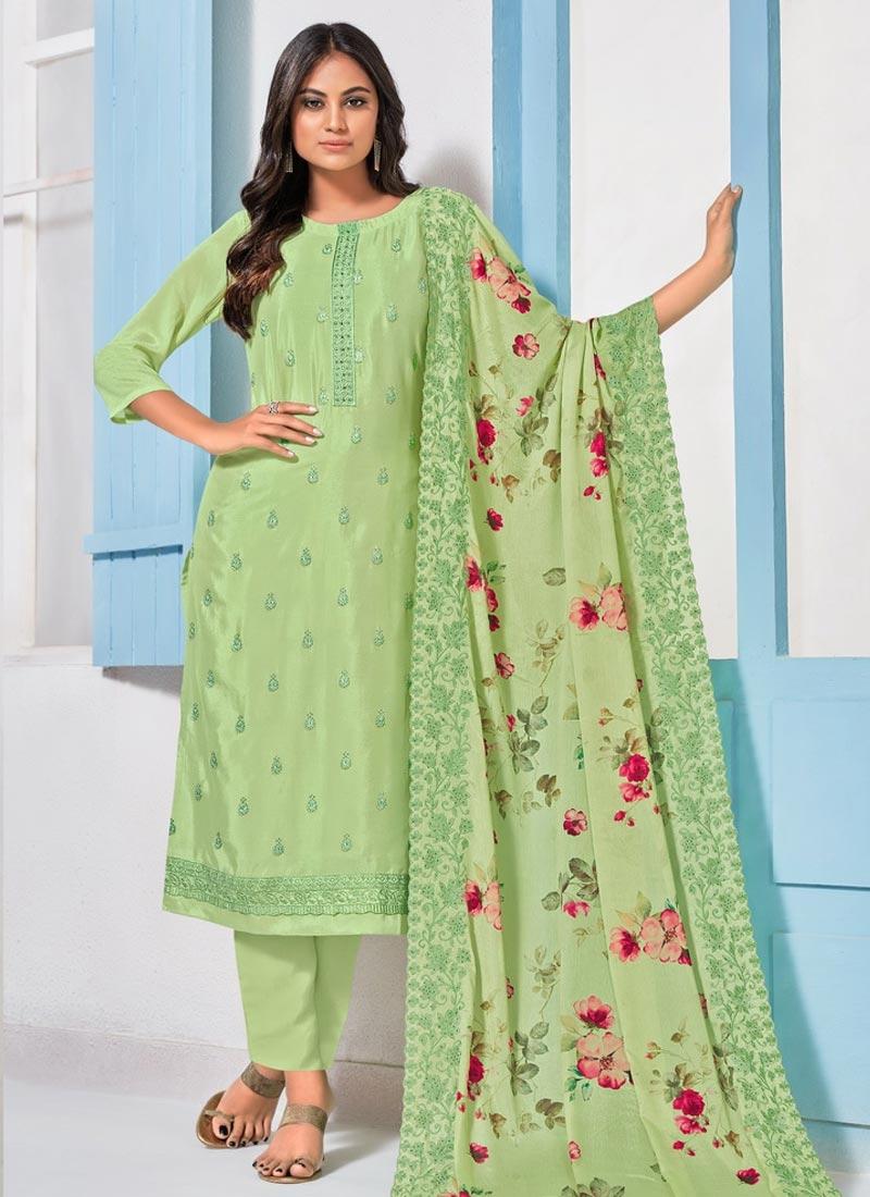 Chinon Pant Style Pakistani Salwar Kameez