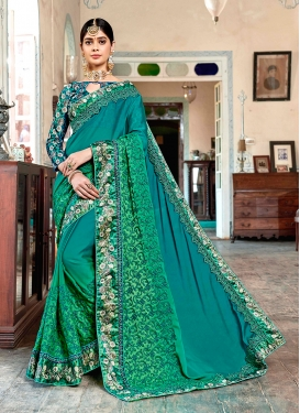 Classical Embroidered Trendy Saree