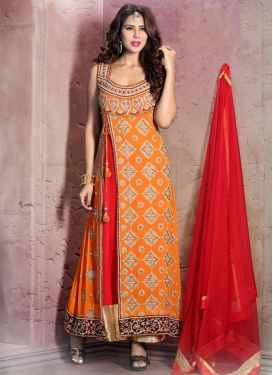 Classy Multi Work Georgette Readymade Designer Suit