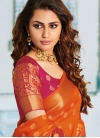 Classy Orange Designer Traditional Saree - 1