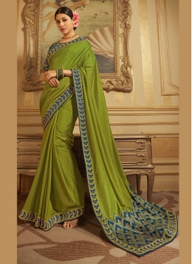 Classy Patch Border Art Silk Traditional Designer Saree
