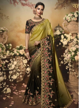 Coffee Brown and Olive Trendy Classic Saree