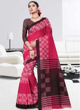 Coffee Brown and Rose Pink Contemporary Saree