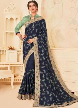 Competent Poly Silk Festival Designer Traditional Saree