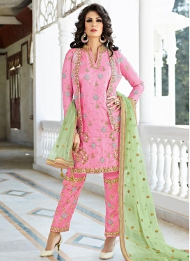 Conspicuous Beads Work Jacket Style Salwar Kameez