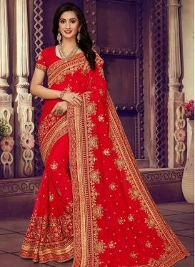 Contemporary Style Saree For Bridal