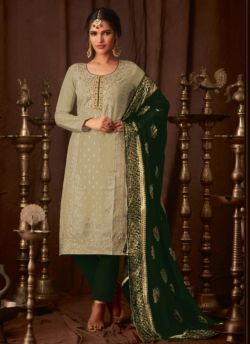 Contemporary Work Pant Style Pakistani Salwar Kameez