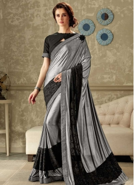Cord Work Designer Contemporary Saree For Ceremonial