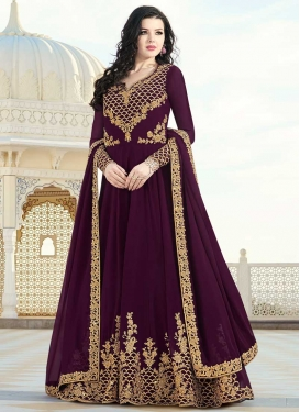 Cord Work Long Length Salwar Kameez For Party