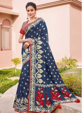 Cord Work Silk Trendy Classic Saree For Bridal