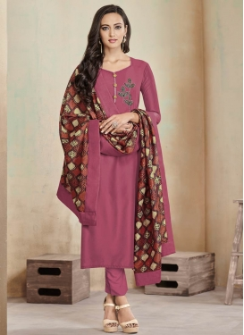 Cotton Beads Work Readymade Designer Salwar Suit
