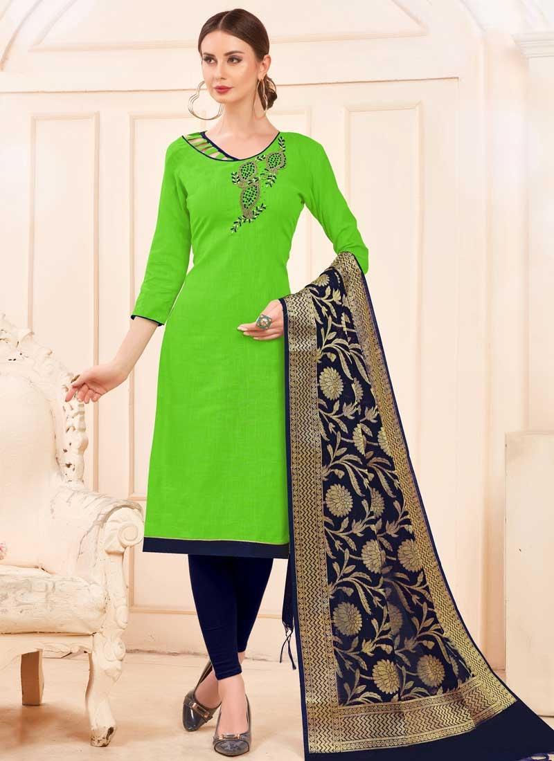 Cotton Churidar Salwar Suit