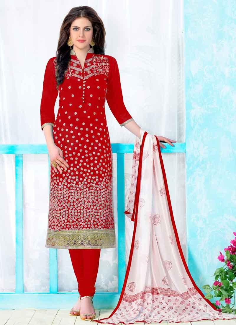 Cotton Churidar Salwar Suit For Festival