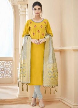 Cotton Churidar Suit For Ceremonial