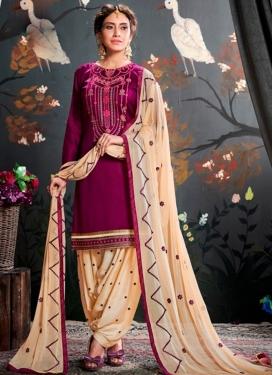 Cotton Designer Semi Patiala Salwar Suit
