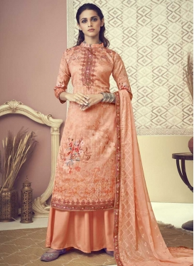 Cotton Digital Print Work Palazzo Style Pakistani Salwar Suit