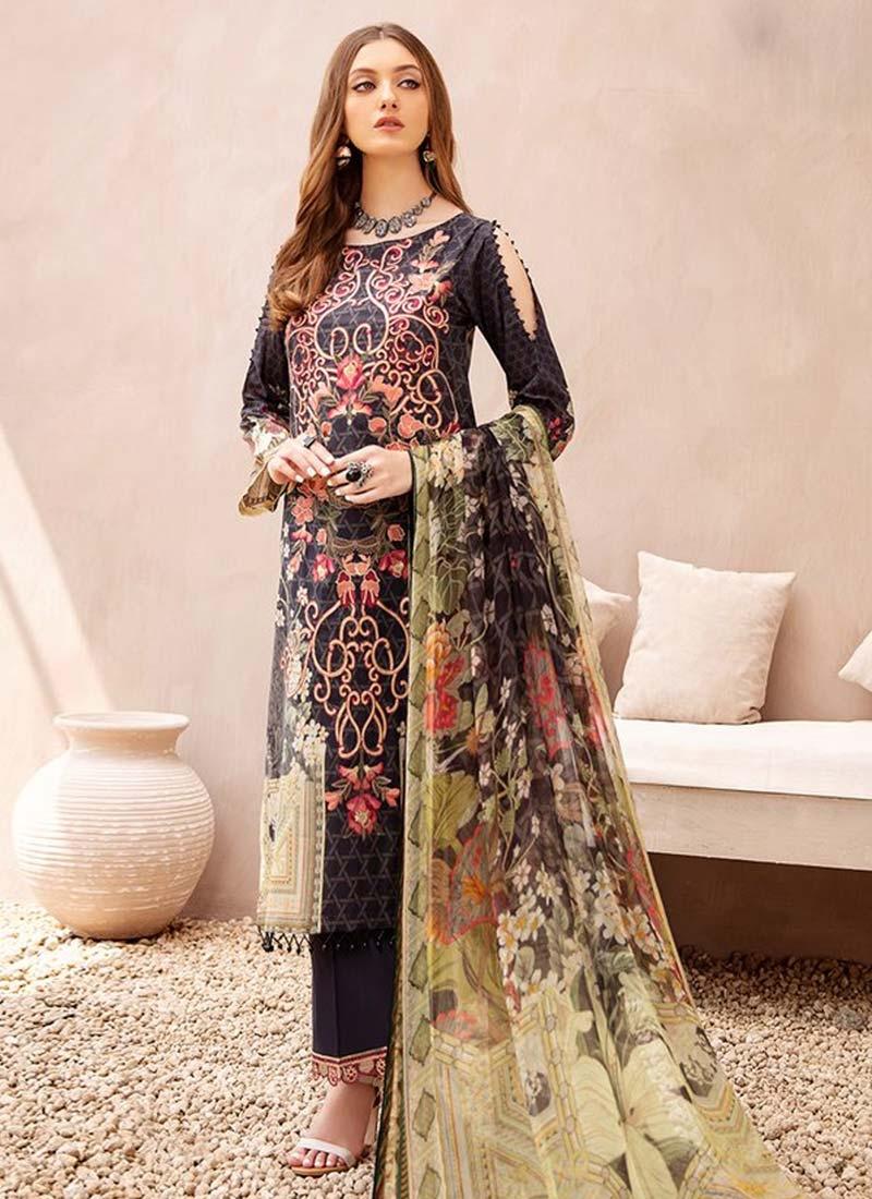 Cotton Digital Print Work Pant Style Designer Salwar Kameez