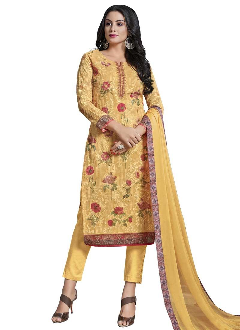 Cotton Digital Print Work Pant Style Salwar Suit