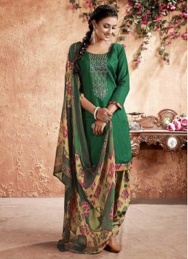 Cotton Digital Print Work Trendy Patiala Salwar Suit