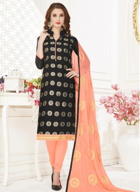 Cotton Embroidered Work Churidar Salwar Suit