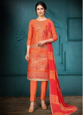Cotton Embroidered Work Designer Pant Style Suit