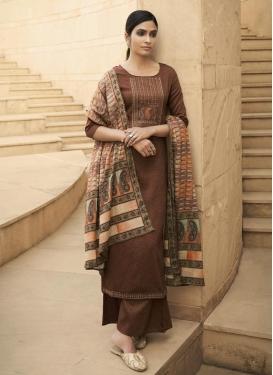 Cotton Embroidered Work Palazzo Style Pakistani Salwar Kameez