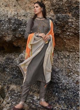 Cotton Embroidered Work Pant Style Designer Salwar Kameez