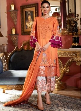 Cotton Embroidered Work Pant Style Pakistani Salwar Suit