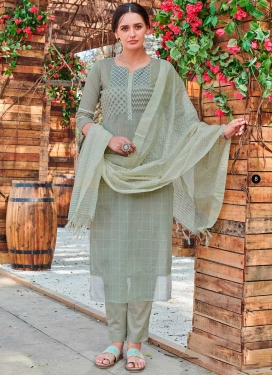 Cotton Embroidered Work Readymade Designer Salwar Suit