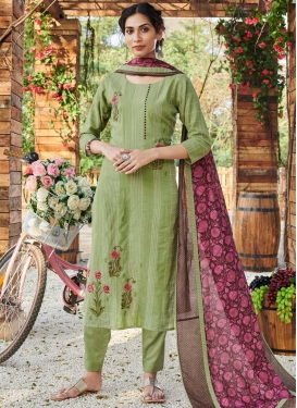 Cotton Embroidered Work Readymade Designer Suit
