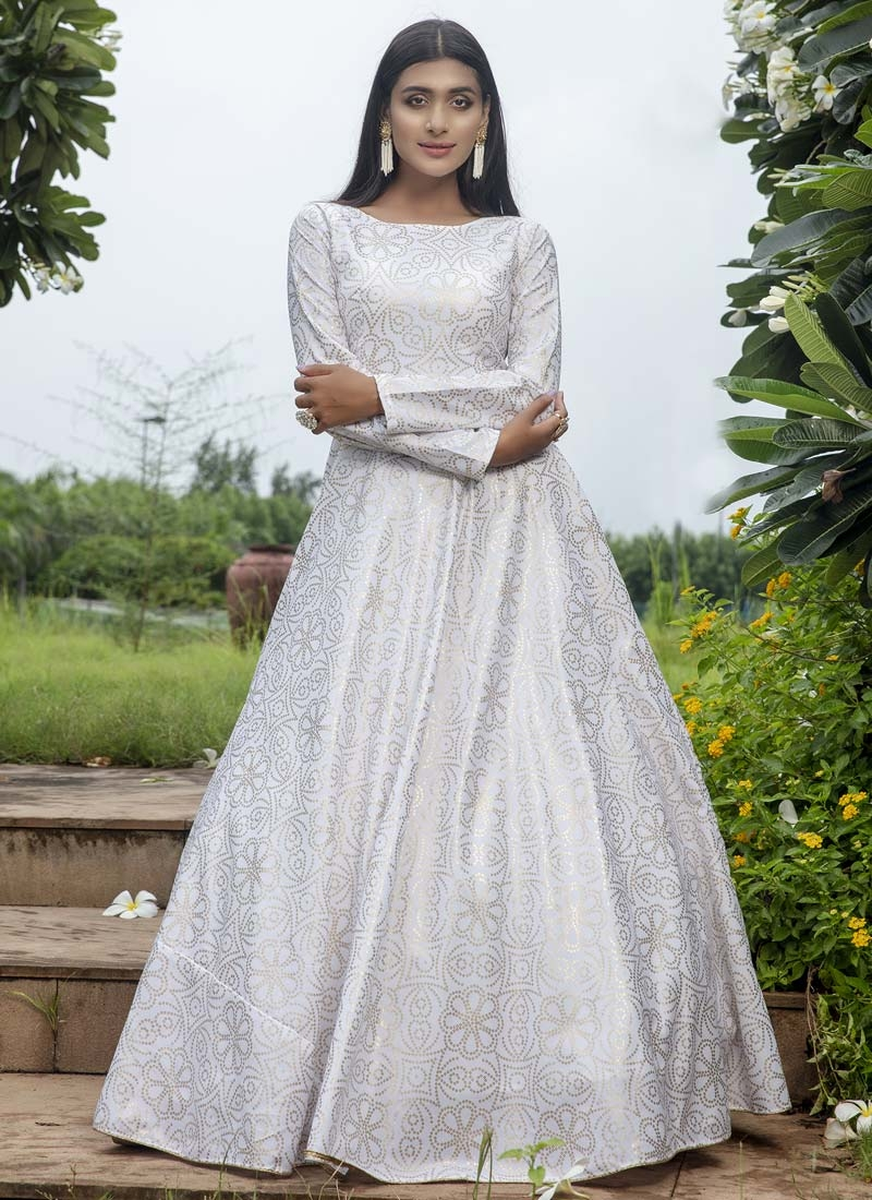 Cotton Floor Length Gown For Festival