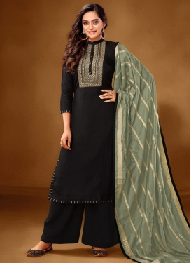 Cotton Lawn Embroidered Work Palazzo Style Pakistani Salwar Suit