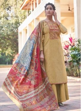 Cotton Palazzo Style Pakistani Salwar Kameez For Casual