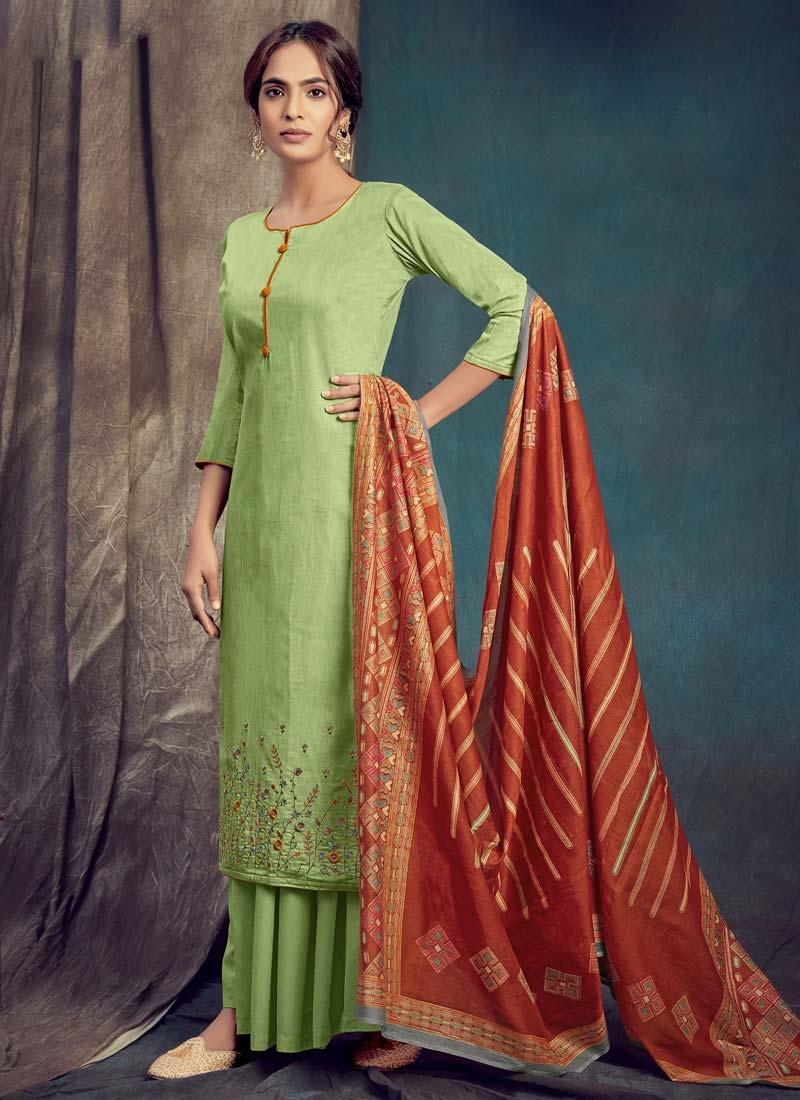 Cotton Palazzo Style Pakistani Salwar Suit