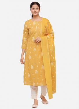 Cotton Pant Style Pakistani Salwar Suit For Casual