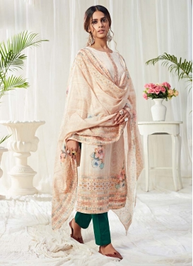 Cotton Pant Style Pakistani Salwar Suit For Festival