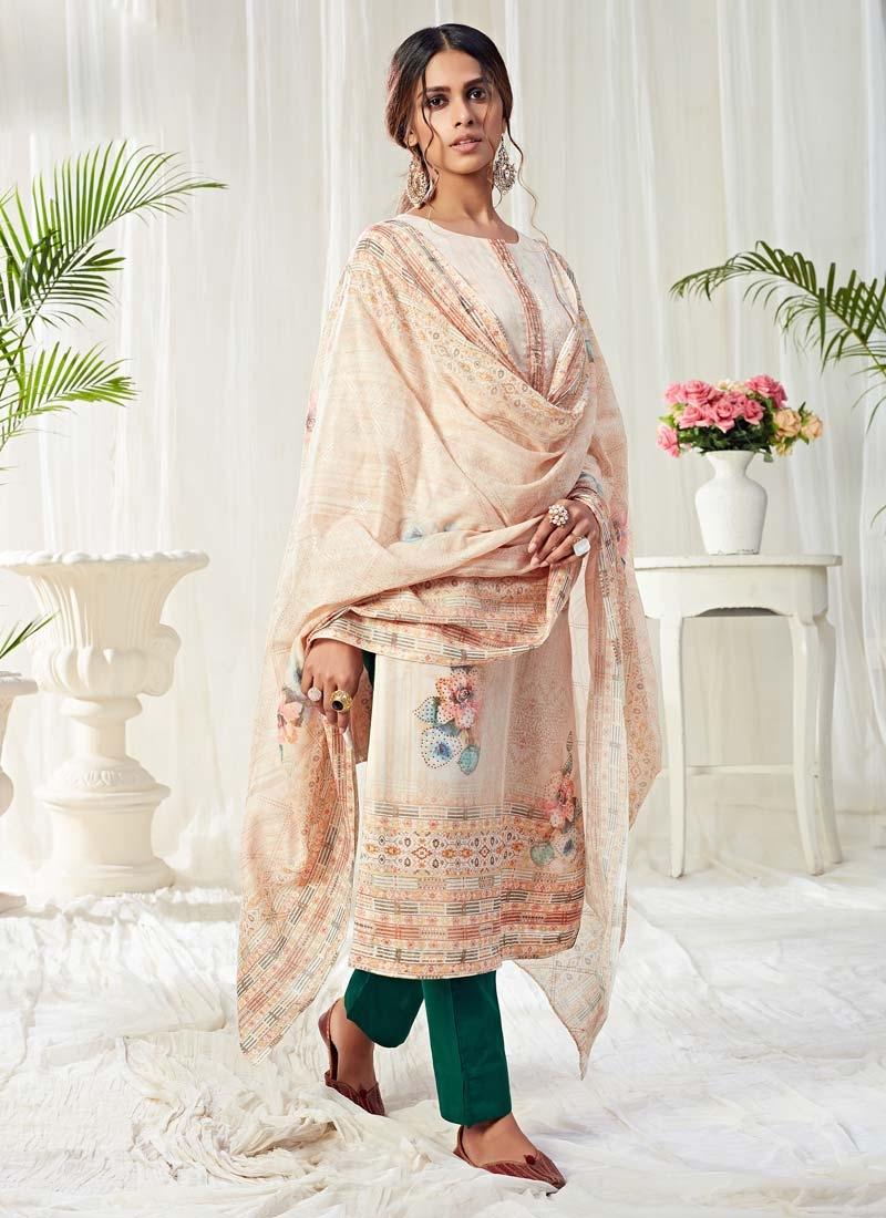 Cotton Pant Style Pakistani Salwar Suit For Festival