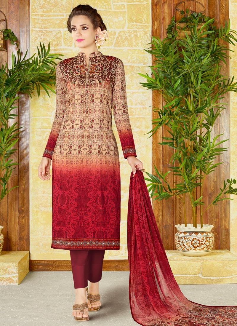 Cotton Pant Style Pakistani Suit For Ceremonial