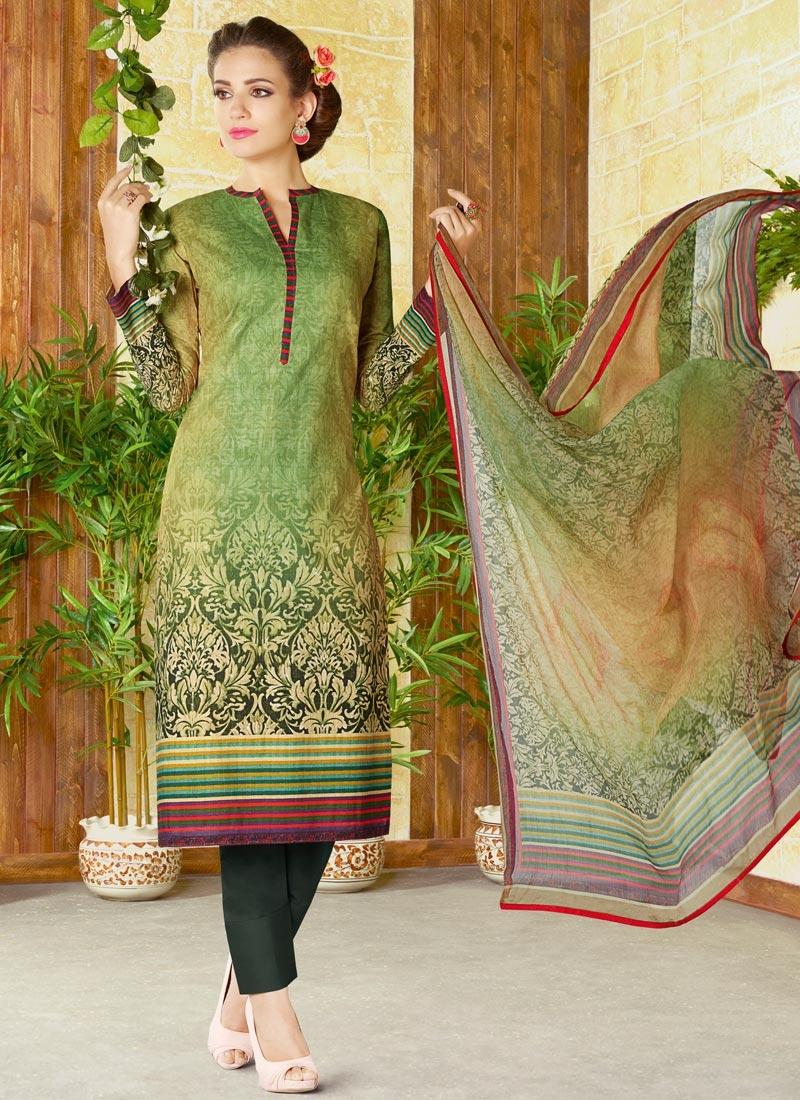 Cotton Pant Style Salwar Kameez For Ceremonial