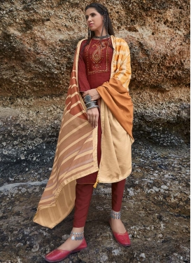 Cotton Pant Style Salwar Suit For Festival