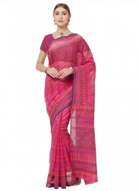 Cotton Print Work Traditional Designer Saree