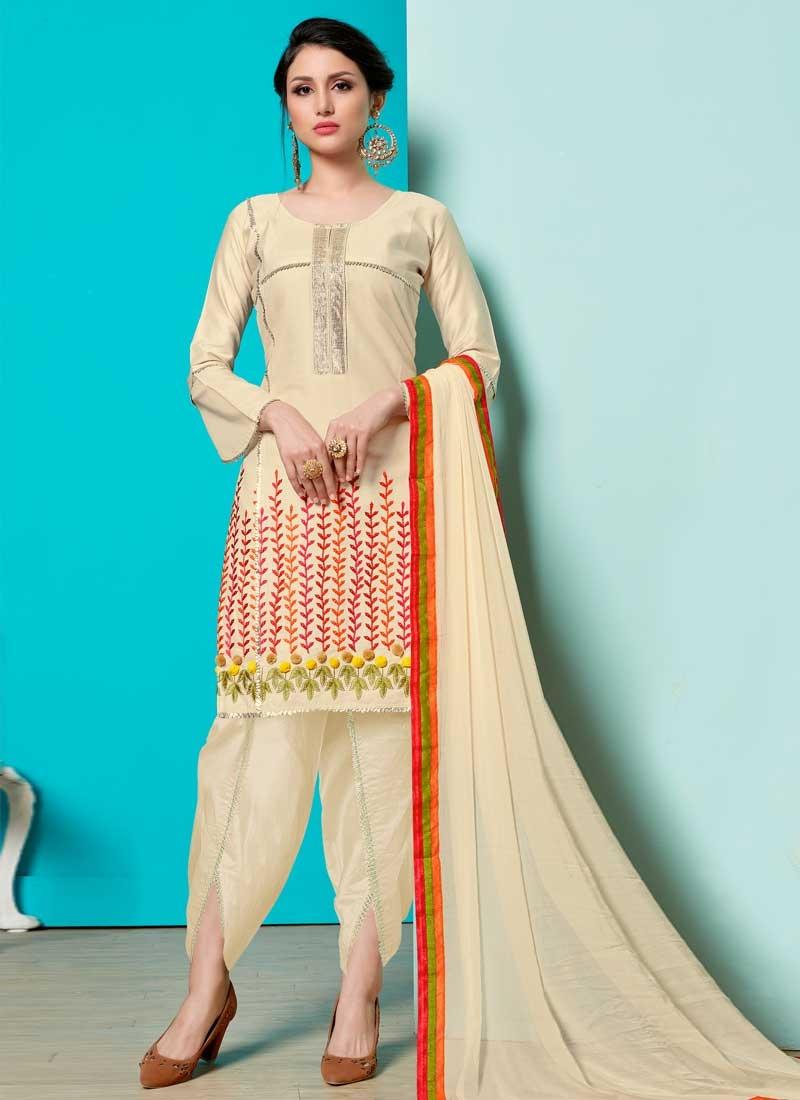 Cotton Punjabi Salwar Kameez For Ceremonial