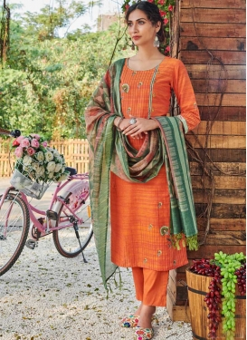 Cotton Readymade Designer Suit For Ceremonial