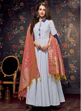 Cotton Readymade Floor Length Gown