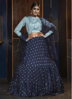 Cotton Resham Work Trendy A Line Lehenga Choli