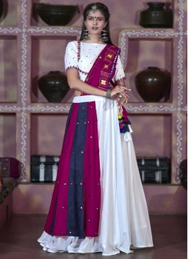 Cotton Satin Designer A Line Lehenga Choli For Ceremonial