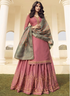 Cotton Satin Designer Palazzo Salwar Suit For Ceremonial