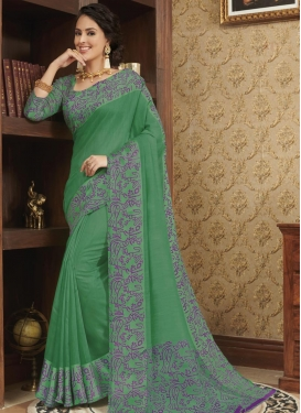 Cotton Satin Designer Traditional Saree