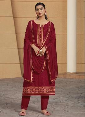 Cotton Satin Pant Style Pakistani Salwar Suit